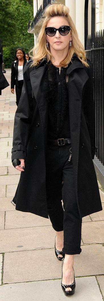 *EXCLUSIVE* Madonna takes a solo stroll in London [USA ONLY]