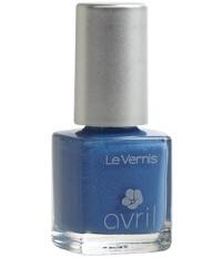 Vernis bleu pailleté