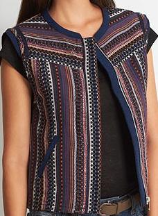 Lima veste sans manche jacquard ethnique – Etam – 44.99 euros 1ac6f1f4910
