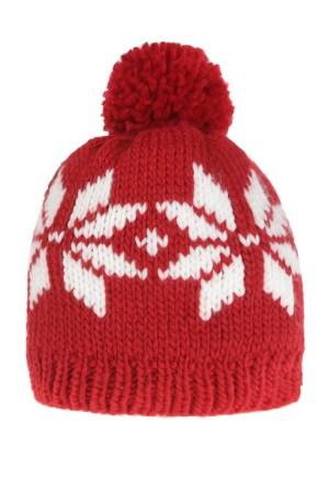 Bonnet motif flocons et pompon - Cache-cache - 9.99€