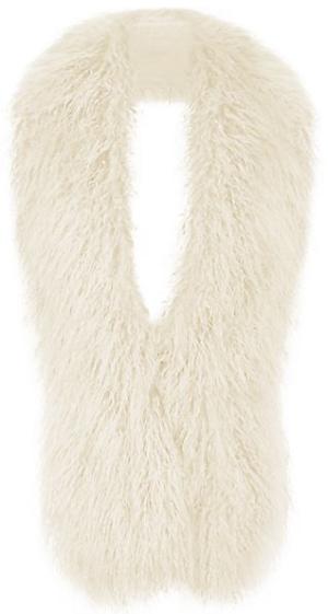 Écharpe crème en fausse fourrure texturée - New Look - 24.99€ -> -50 12.50€