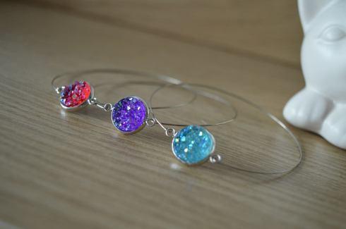 Bracelets anneau météorite crystal