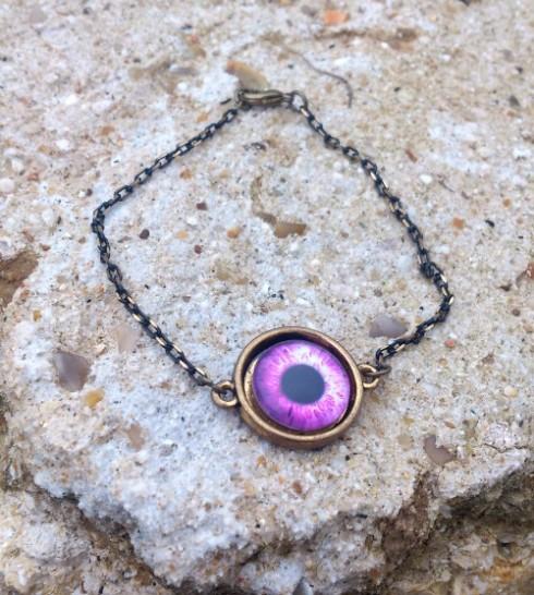 Bracelet oeil en verre